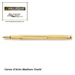 Madison Ciselé laminata oro stilografica