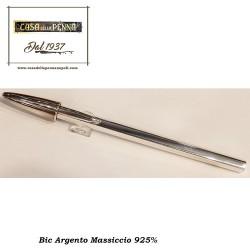 BIC Crystal argento massiccio 925%
