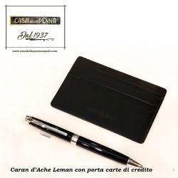penna sfera Leman con porta carte di credito CARAN D'ACHE