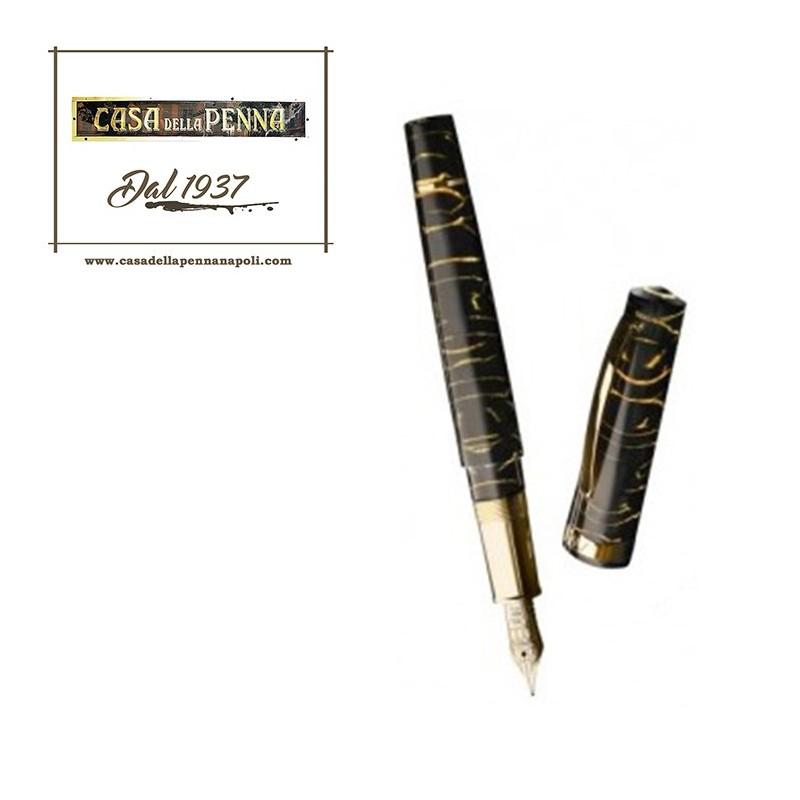 Bologna Celluloide Black & Gold - Omas penna stilografica