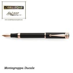Ducale nera e oro rosa  - penna Montegrappa