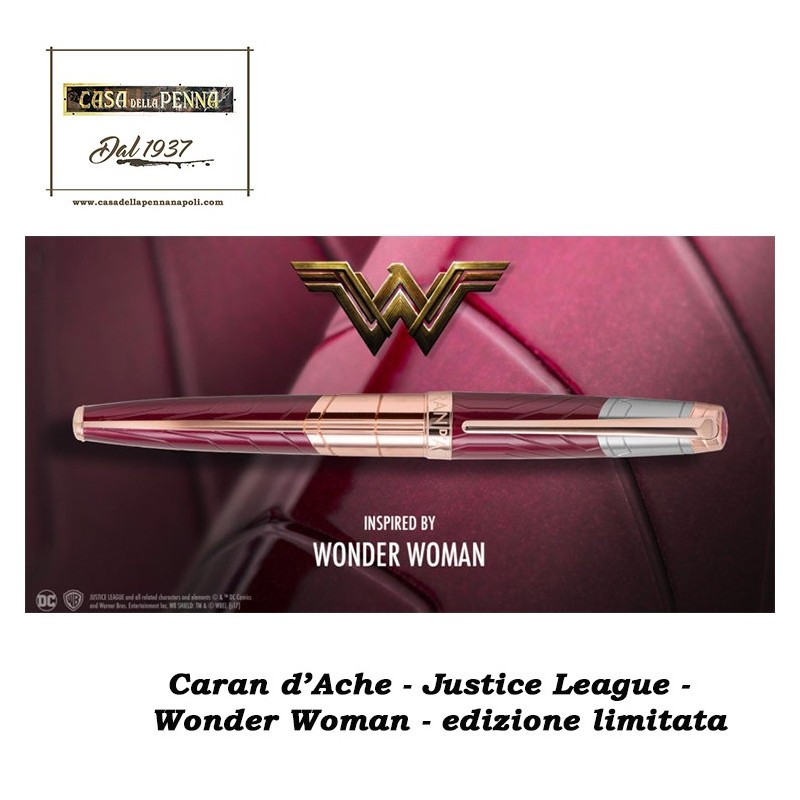 WONDER WOMAN - Justice League - Caran d'Ache - penna edizione limitata