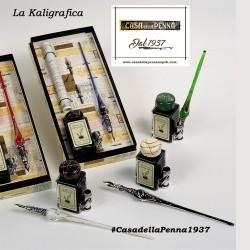 penna stilografica in vetro lavorato - LA KALIGRAFICA - 410