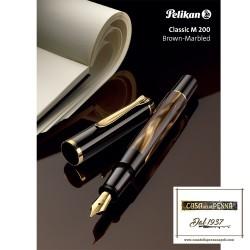 penna PELIKAN Classic 200 Brown Marble stilografica / sfera