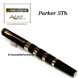 Large Black Rubber & Metal Rings GT- penna PARKER Ingenuity 5th
