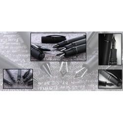 Penna Aurora Magellano cappuccio silver & epoxy