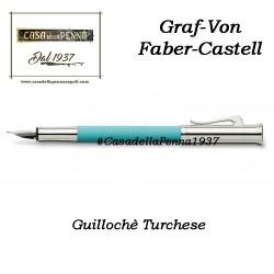 Guillochè Ciselè TURCHESE Colour Concept Penna Graf-Von Faber-Castell  sfera - roller- stilo in offerta