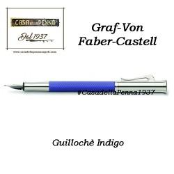 Guillochè Ciselè INDIGO Colour Concept Penna Graf-Von Faber-Castell  sfera - roller- stilo in offerta