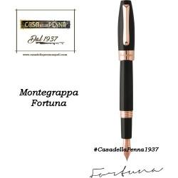 MONTEGRAPPA Fortuna Oro Rosa e Nero penna sfera - roller - stilo