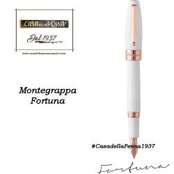 MONTEGRAPPA Fortuna Oro Rosa e Bianco penna sfera - roller - stilo
