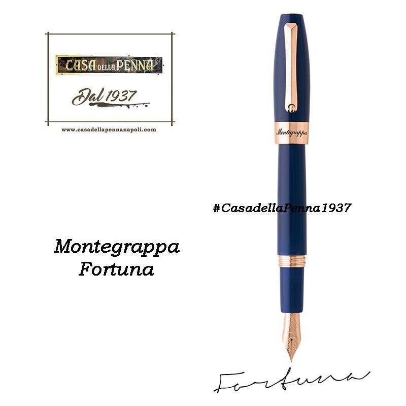 MONTEGRAPPA Fortuna Oro Rosa e Blu penna sfera - roller - stilo
