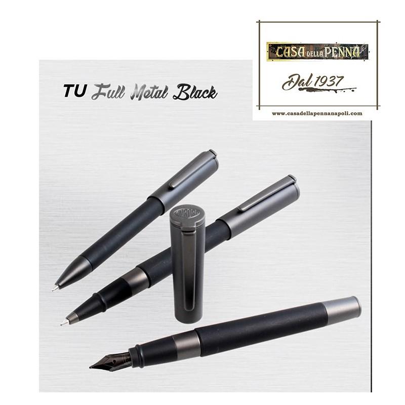 penna AURORA Tu Full Metal Black - stilografica, roller, sfera