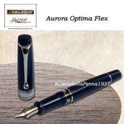 AURORA Optima Flex BLU - penna stilografica pennino flessibile - edizone limitata