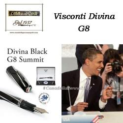 VISCONTI DIVINA Black Oversize G8 Summit - penna stilografica limitata e numerata