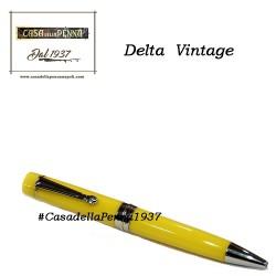 DELTA Vintage Gialla Midi - penna sfera - in esclusiva per CasadellaPenna1937 + refill in omaggio