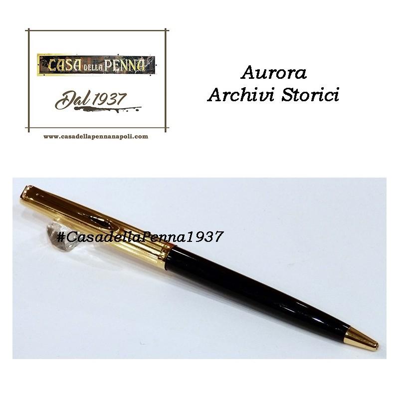 AURORA Archivi Storici - 050 - penna sfera cappuccio guilloché lineare dorato