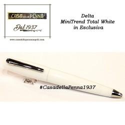 penna sfera midi Delta MiniTrend Total White + refill gel omaggio