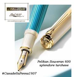 Souveran 600 Turquoise-White PELIKAN Penna  stilografica