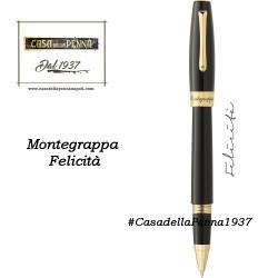 MONTEGRAPPA Felicità - Black & Gold- penna sfera/roller/stilografica