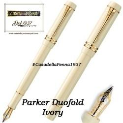 PARKER  Duofold Ivory GT - penna sfera/stilografica - ultimo pezzo - offerta
