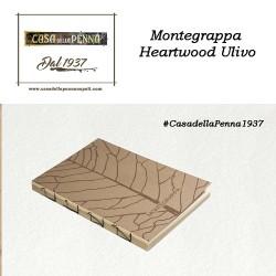 MONTEGRAPPA Fortuna Heartwood Ulivo - penna sfera/roller/stilografica + taccuino - Novità