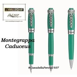 Montegrappa Fortuna Caduceus - Medical Green -  penna sfera/roller/stilografica