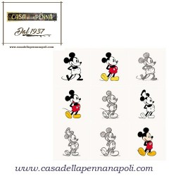 Disney Mickey Mouse - verde a pois bianchi - penna sfera