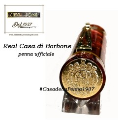 penna ufficiale della Real Casa di Borbone - Argenio - ROSSO
