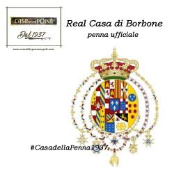 penna ufficiale della Real Casa di Borbone - Argenio - NERO