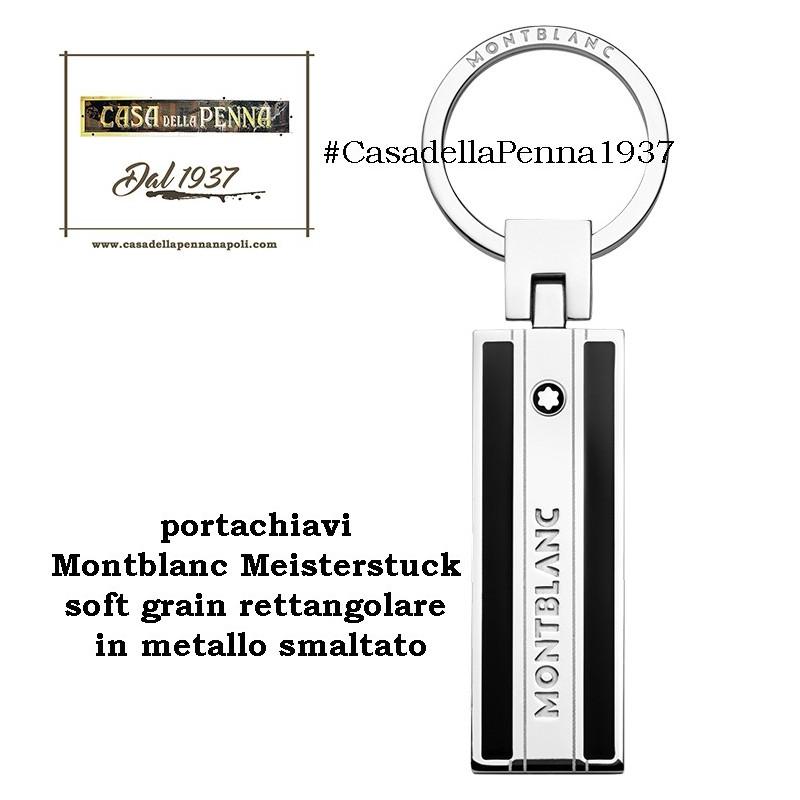 portachiavi Montblanc Meisterstuck soft grain rettangolare in metallo smaltato