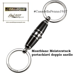 portachiavi Montblanc Meisterstuck con doppio anello metallo/resina - 114565