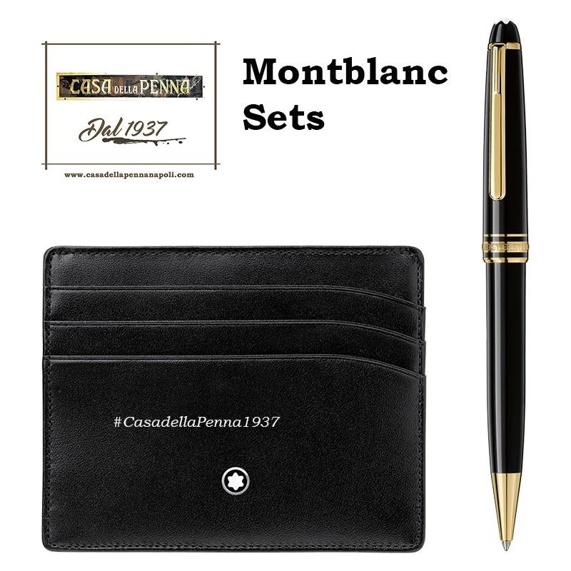 Montbanc - Set Meisterstuck penna a sfera + porta carte di credito - 118908