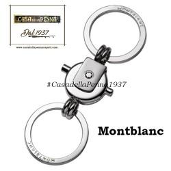 Montblanc porchiavi doppio anello acciaio - 114567