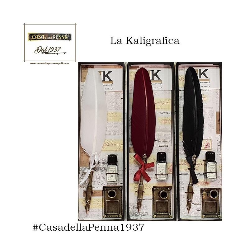 penna stilografica con piuma e inchiostro - La Kaligrafica art. 2075