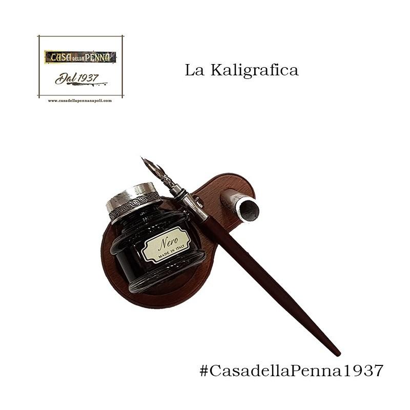penna stilografica in legno con calamaio - La Kaligrafica art. 2250