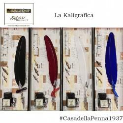 penna stilografica con piuma e calamaio - La Kaligrafica art. 7227