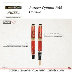 Aurora Optima 365 Corallo - penna stilografica limitata e numerata