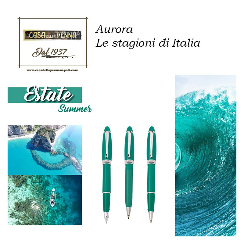 Visconti Pentagon Blue - penna stilografica/penna roller
