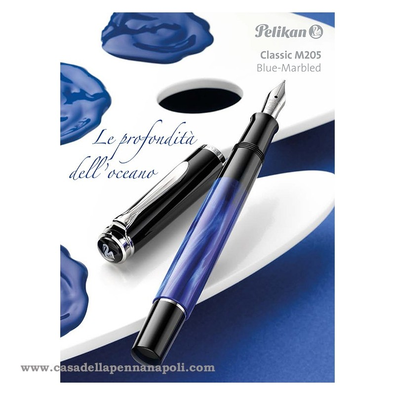 PELIKAN Classic 205 Blu-Marbled