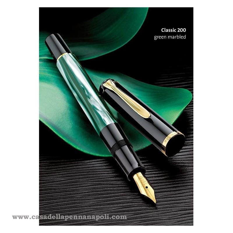 PELIKAN Classic 200 Green-Marbled