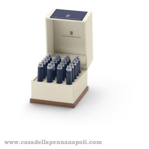 20 Cartucce inchiostro Faber-Castell nature - midnight blue
